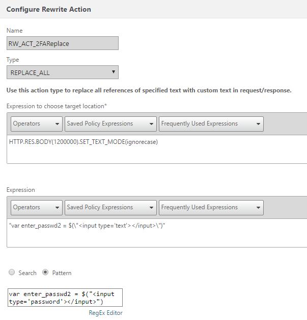 NetScaler Gateway - 2FA Token Rewriting – ivancacic com – Just some
